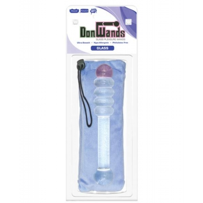 Don wands pleasure wand - pink tip clear rings glass