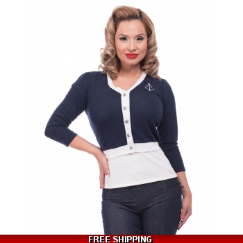 Anchored Cropped Cardi
