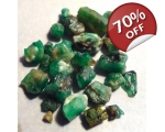26 cts 3 to 12  mm Rough Colombian Emerald for ..
