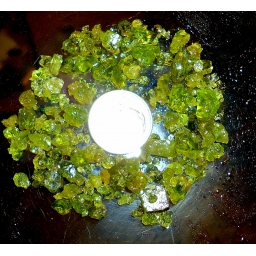 Peridote Rough 55 cts  ..