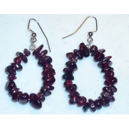 Garnet Earrings  hand m..