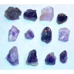 Amethyst Rough 260 cts 20  M..