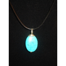 Turquoise In Sterling Neckla..