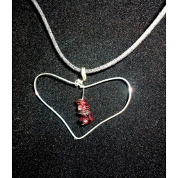 Garnet in sterling Necklace ..