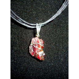 Garnet In Sterling Neck..