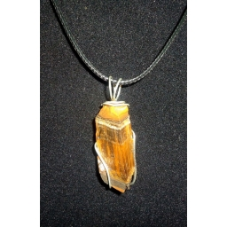 Tigers eye And Sterling Neck..