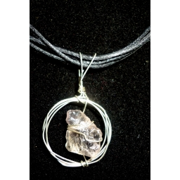 Raw Natural Quartz Necklace ..