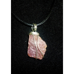 Lepidolite And Sterling Neck..