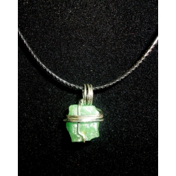 Green Quartz In Sterling Nec..