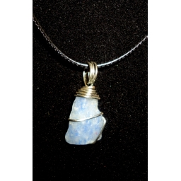 Natural Blue Quartz Necklace..