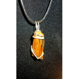 Tigers eye in Sterling Neckl..