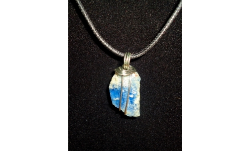 Blue Kyanite In Sterling 30X15X5 MM 20 cts Handmade 0983C
