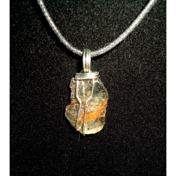 Topaz And Sterling Neck..