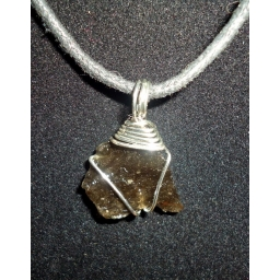 Obsidian In Sterling Necklac..