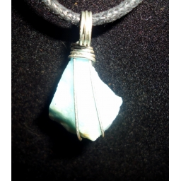 Aquamarine And Sterling 30X3..