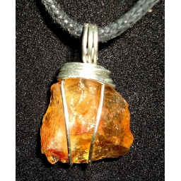 Citrine And Sterling Necklac..