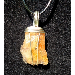Rainbow Sunstone in sterling..