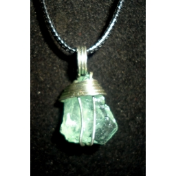 Aquamarine In Sterling Neckl..