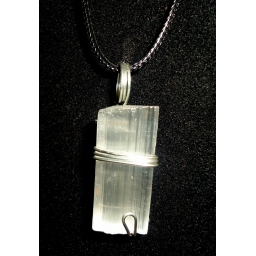 Selenite  And Sterling Neckl..