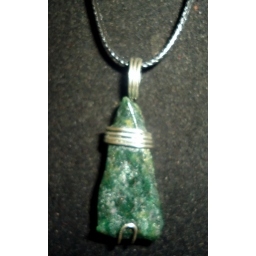 Raw Jade in Sterling 40x15x8..