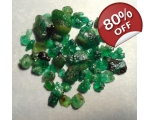10 cts 3 to 10  mm Rough Colombian Emerald for ..