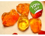 80 cts Rough Mexican Fire Opal  5 to 10 mm 842A
