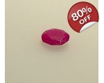 Ruby loose faceted oval c..