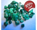 31 cts 3 to 10  mm Rough Colombian Emerald for ..