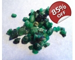 21 cts 3 to 10  mm Rough Colombian Emerald for ..