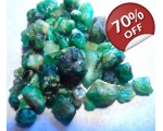 32 cts 3 to 10  mm Rough Colombian Emerald for ..