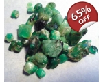30 cts 3 to 10  mm Rough Colombian Emerald for ..