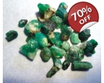 20 cts 3 to 10  mm Rough Colombian Emerald for ..