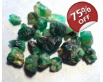 12 cts 3 to 10  mm Rough Colombian Emerald for ..