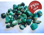 63 cts 3 to 10  mm Rough Colombian Emerald for ..