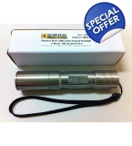 Survival Laser Stainless Steel 1,000 Lumen Tactical Flashlight- 5 Mode