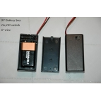 9V battery case with switch Details