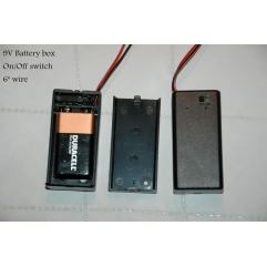 9V battery case with switch