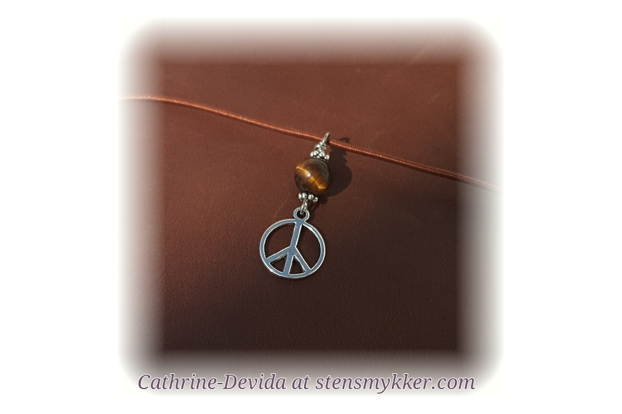 Charms with tigerseye  and peace sign.