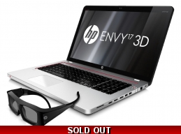 Hp Envy 17 3D Quad Core i7-2630qm 12gb 1.5tb Blu-ray 17.3 FHD Win Pro