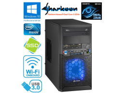Sharkoon Gaming PC Intel Pentium 3.2GHz 8gb 1tb SSD GTX 650 Win 10