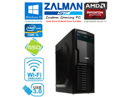 Zalman Gaming PC Intel Core i5 3.4GHz 8gb 2tb SSD HD 7850 Win 10