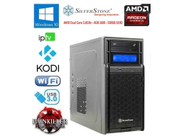 Silverstone HTPC Mini PC AMD Triple Core 3GHz 4gb 2Tb Radeon HD Win10
