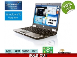 HP EliteBook 2540p Intel Core i7 2.9GHz 4GB 12.1 DVD Webcam Win 7 / 10
