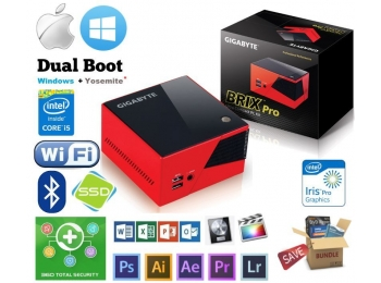 Hackintosh Intel Quad Core i5 8GB SSD WiFi BT Adobe MacPro Win