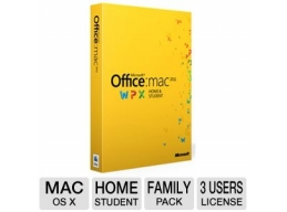Microsoft Office Home And Student 2011 - MAC - DVD-ROM - 3 Users - Family Pack - Retail Box - Engl..