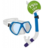Adults Mask & Snorkel Set - Blue