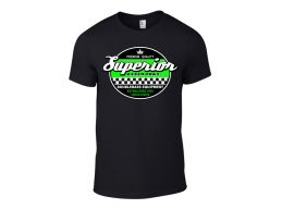 Superior Bassworks Shirt Green Logo - Upright Double Bass