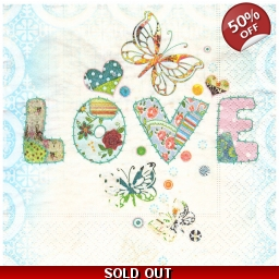 Napkins 33x33 - Love L1