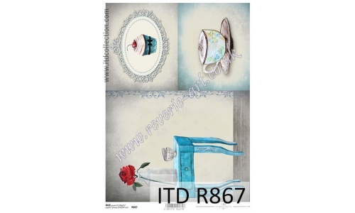 ITD A4 rice paper - R867 coffee and cupcake