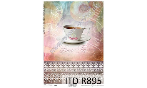 ITD A4 rice paper - R895 tea time